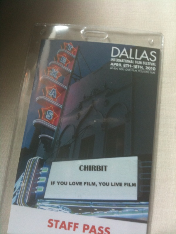 Chirbit at the Dallas International Film Festival - info table